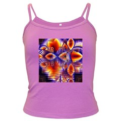 Winter Crystal Palace, Abstract Cosmic Dream Dark Spaghetti Tank