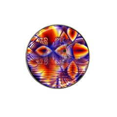 Winter Crystal Palace, Abstract Cosmic Dream Hat Clip Ball Marker