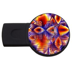 Winter Crystal Palace, Abstract Cosmic Dream USB Flash Drive Round (4 GB)