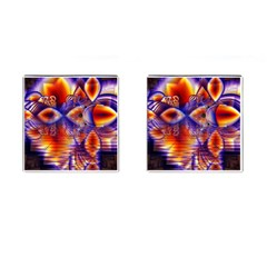 Winter Crystal Palace, Abstract Cosmic Dream Cufflinks (Square)