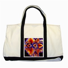 Winter Crystal Palace, Abstract Cosmic Dream Two Tone Tote Bag