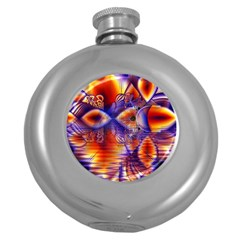 Winter Crystal Palace, Abstract Cosmic Dream Hip Flask (5 Oz)