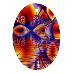 Winter Crystal Palace, Abstract Cosmic Dream Oval Ornament (Two Sides)