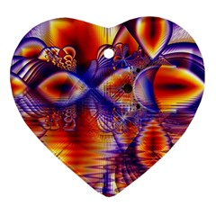 Winter Crystal Palace, Abstract Cosmic Dream Heart Ornament (Two Sides)