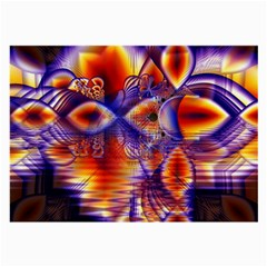 Winter Crystal Palace, Abstract Cosmic Dream Glasses Cloth (Large, Two Sides)
