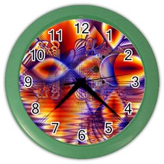 Winter Crystal Palace, Abstract Cosmic Dream Color Wall Clock