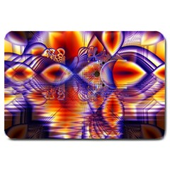 Winter Crystal Palace, Abstract Cosmic Dream Large Doormat
