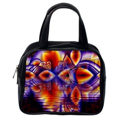 Winter Crystal Palace, Abstract Cosmic Dream Classic Handbag (One Side)