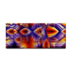 Winter Crystal Palace, Abstract Cosmic Dream Hand Towel