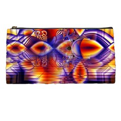 Winter Crystal Palace, Abstract Cosmic Dream Pencil Case
