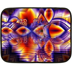 Winter Crystal Palace, Abstract Cosmic Dream Mini Fleece Blanket(two Sides)