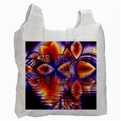 Winter Crystal Palace, Abstract Cosmic Dream Recycle Bag (two Side)