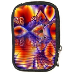 Winter Crystal Palace, Abstract Cosmic Dream Compact Camera Leather Case