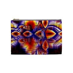 Winter Crystal Palace, Abstract Cosmic Dream Cosmetic Bag (medium)
