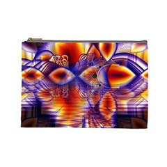 Winter Crystal Palace, Abstract Cosmic Dream Cosmetic Bag (Large)