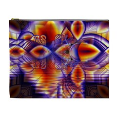 Winter Crystal Palace, Abstract Cosmic Dream Cosmetic Bag (xl)
