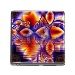 Winter Crystal Palace, Abstract Cosmic Dream Memory Card Reader with Storage (Square)