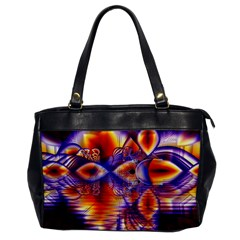 Winter Crystal Palace, Abstract Cosmic Dream Oversize Office Handbag (one Side)