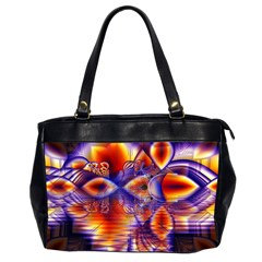 Winter Crystal Palace, Abstract Cosmic Dream Oversize Office Handbag (Two Sides)