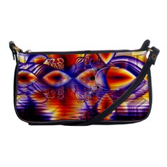 Winter Crystal Palace, Abstract Cosmic Dream Shoulder Clutch Bag