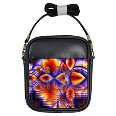 Winter Crystal Palace, Abstract Cosmic Dream Girls Sling Bag