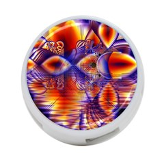 Winter Crystal Palace, Abstract Cosmic Dream 4-Port USB Hub (One Side)