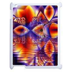 Winter Crystal Palace, Abstract Cosmic Dream Apple iPad 2 Case (White)
