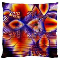 Winter Crystal Palace, Abstract Cosmic Dream Large Cushion Case (two Sides)