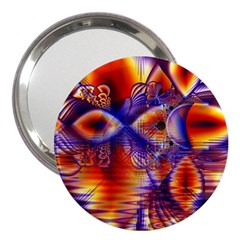 Winter Crystal Palace, Abstract Cosmic Dream 3  Handbag Mirror