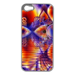 Winter Crystal Palace, Abstract Cosmic Dream Apple iPhone 5 Case (Silver)