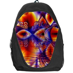 Winter Crystal Palace, Abstract Cosmic Dream Backpack Bag