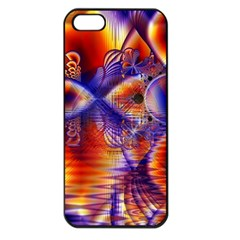 Winter Crystal Palace, Abstract Cosmic Dream Apple Iphone 5 Seamless Case (black)