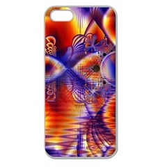 Winter Crystal Palace, Abstract Cosmic Dream Apple Seamless iPhone 5 Case (Clear)