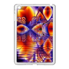 Winter Crystal Palace, Abstract Cosmic Dream Apple iPad Mini Case (White)