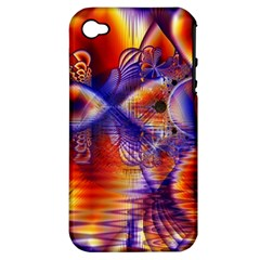 Winter Crystal Palace, Abstract Cosmic Dream Apple iPhone 4/4S Hardshell Case (PC+Silicone)