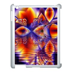 Winter Crystal Palace, Abstract Cosmic Dream Apple iPad 3/4 Case (White)