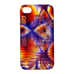 Winter Crystal Palace, Abstract Cosmic Dream Apple Iphone 4/4s Hardshell Case With Stand
