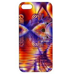 Winter Crystal Palace, Abstract Cosmic Dream Apple iPhone 5 Hardshell Case with Stand