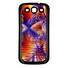 Winter Crystal Palace, Abstract Cosmic Dream Samsung Galaxy S3 Back Case (black)