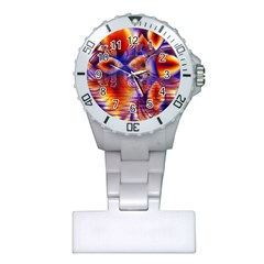 Winter Crystal Palace, Abstract Cosmic Dream Nurses Watch