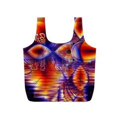 Winter Crystal Palace, Abstract Cosmic Dream Full Print Recycle Bag (s)