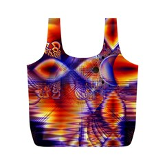Winter Crystal Palace, Abstract Cosmic Dream Full Print Recycle Bag (M)