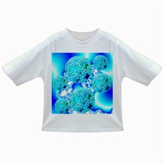 Blue Ice Crystals, Abstract Aqua Azure Cyan Infant/toddler T Shirt