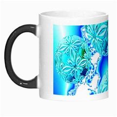 Blue Ice Crystals, Abstract Aqua Azure Cyan Morph Mug