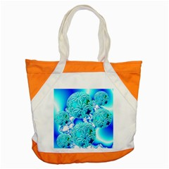 Blue Ice Crystals, Abstract Aqua Azure Cyan Accent Tote Bag