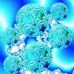 Blue Ice Crystals, Abstract Aqua Azure Cyan Canvas 16  x 16