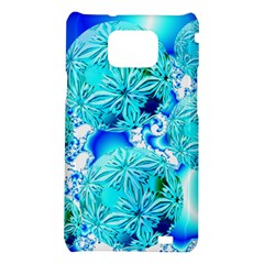 Blue Ice Crystals, Abstract Aqua Azure Cyan Samsung Galaxy S II i9100 Hardshell Case