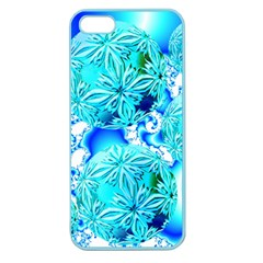 Blue Ice Crystals, Abstract Aqua Azure Cyan Apple Seamless iPhone 5 Case (Color)