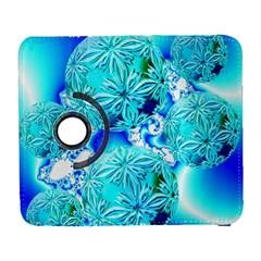 Blue Ice Crystals, Abstract Aqua Azure Cyan Samsung Galaxy S  III Flip 360 Case