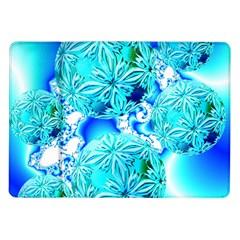 Blue Ice Crystals, Abstract Aqua Azure Cyan Samsung Galaxy Tab 10.1  P7500 Flip Case